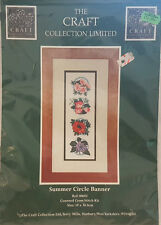 THE CRAFT COLLECTION COUNTED CROSS STITCH KIT Summer Circle Banner 10 x 30.5cm