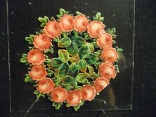 Victorian scrap # 1720 - WREATH OF ROSES