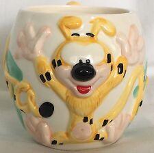 RARE Vintage Disney Marsupilami Ceramic Mug, Tail As Handle, Houba Houba!