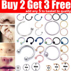 Nose Ring Nose Rings Lip Helix Tragus Lobe Ear Piercing Ring Surgical Steel Hoop <br/> ⭐⭐⭐⭐⭐✅Buy 2 Get 3 Free✅Add any 5 to basket✅Cheapest✅