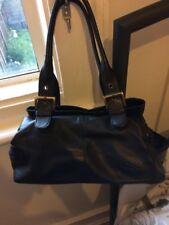 Gigi Black Leather Handbag Shoulder Bag