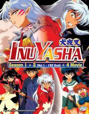 DVD Inuyasha sea.1+2 vol.1-193 end +4 Movie Anime Series English Version