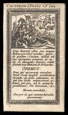 santino grabado 1700 CONVERSIÓN DE SAN PABLO AP