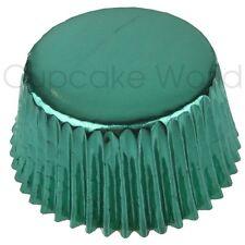 25PCS GREEN SHINY METALLIC FOIL MUFFIN CUPCAKE CASES BAKING PATTY PAN CUPS SALE!
