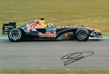 David Coulthard mano firmato RED BULL RACING FOTO 12X8 4.