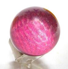 SoHo® Ring Kugel Ball Schunkelring fuchsia rosa pink Hologramm Kunstharz resin