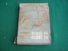 FIAT 645 N 650 N CATALOGO RICAMBI ORIGINALE