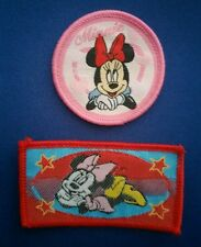 NEW 2 PC LOT MINNIE MOUSE RED PINK BOW IRON ON PATCHES PATCH APPLIQUE SMALL