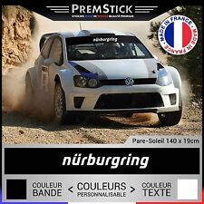 Stickers Pare Soleil Nurburgring Rallye ref11; Auto Autocollant Voiture Racing