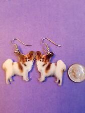 Papillon Dog lightweight fun earrings jewelry Free Shipping!