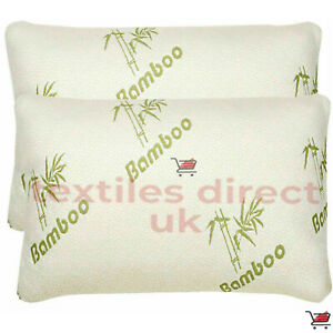 2 x BAMBOO HOLLOWFIBER FILLING ORTHOPEDIC PILLOW, ANTI-BACTERIAL SUPPORT PILLOW