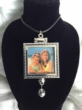 Charming Double-sided Silver Photo Pendant Locket & Necklace Charm Jewelry