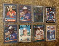 8) Andres Galarraga 1986 1987 Donruss Fleer Topps Leaf Rookie card lot RC Braves