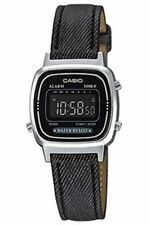 CASIO LADIES DIGITAL WATCH WITH LEATHER STRAP LA670WL-1BDF
