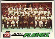 1977-78 TOPPS HOCKEY #71 FLAMES CHECKLIST - NEAR MINT-