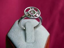 Tiffany & Co. Sterling Silver Atlas Medallion Roman Numeral Ring Size 6.25 Mint!
