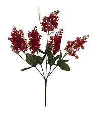 5 Lilac Blooms Burgundy Wine Silk Wedding Flowers Bouquets Centerpieces Bouquet