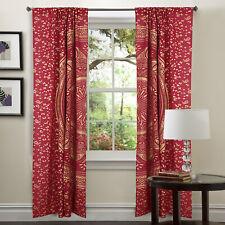 Home Window Decor Cotton Rad Curtain Indian Mandala Door Valance Panel Curtains