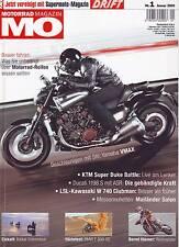 MO 1/09 Yamaha VMAX/BMW F 800 GS/Ducati 1198 S/LSL Kawasaki W 740 Clubman/2009