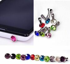 Diamond 3.5MM Dock Anti Dust Plug Cap Stopper Cover for Phones 2015 hot model