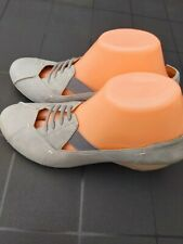 CLARKS ACTIVE AIR GREY LEATHER WEDGE court SHOES SIZE 6.5 immaculate