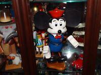 Vintage Retro Mickey Mouse Wood Nutcracker Heirloom Original Christmas Mantle