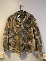 Vintage Rattlers Brand Button Down Real Tree Hunting Shirt Size XXL