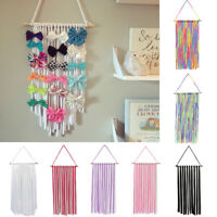 KE_ AU_ Baby Girls Hair Accessories Clip Bow Wall Hanging Holder Organizer Dec