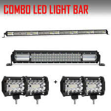 """Dual Row 52Inch 1020W LED Light Bar Combo + 22"""" +4"""" Led Pods For SUV 4WD Jeep"""