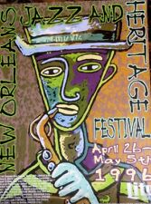 Rare 1996 New Orleans Jazz and Heritage Festival advertising poster Jazzfest