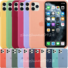 ORIGINAL SILICONE CASE FOR IPHONE SE 2020 11 PRO MAX GENUINE LEATHER OEM COVER