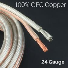 24 GA Gauge Parallel Speaker Wire 50 foot PVC jacket 100% OFC Copper strands