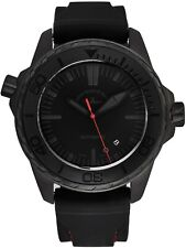 Zeno Men's Divers Black Dial Black/Red Rubber Strap Automatic Watch 6603-BK-I17