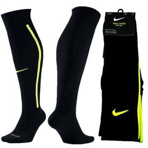 Nike Vapor III Knee High Over Calf Soccer Football Socks Black Volt SX5732-013