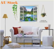3D Lake View Window Removable Family Home Decor DIY Vinyl Wall Sticker Decal Art