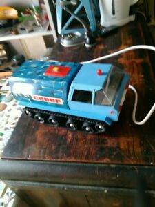 VINTAGE SNOW POLAR MOBIL TOY CCCP USSR RUSSIA BATTERY OPERATED REMOTE CONTROLE