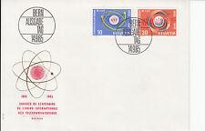 Schweiz  FDC Ersttagsbrief 1965 UIT Kongress Montreux  Mi. 823+24