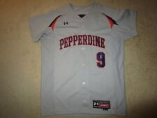 Pepperdine University Waves #9 Baseball Team NCAA Game Used Worn Jersey 44
