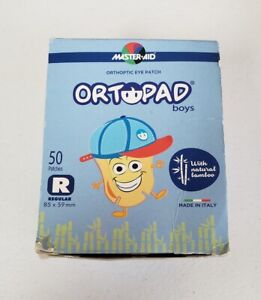 Ortopad Bamboo Eye Patches for Boys, 50/box, Racing Flames/Astronaut Pack