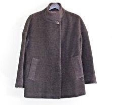 $595 Hilary Radley Womens Brown Alpaca Long Sleeves Coat Outerwear sz 4