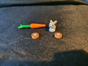 Genuine Lego Rabbit, Paw Prints and Carrot