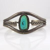 Vintage Taxco Sterling Silver Blue Turquoise Twisted Cuff Bracelet LHA3