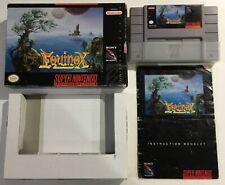 Equinox Super Nintendo SNES CIB Complete