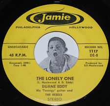 """RARE DUANE EDDY Stereo 45~The Lonely One / Detour~Jamie 1117 CLEAN Vinyl 7"""""""