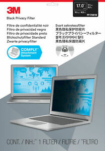 """NEW! 3M 98044054108 Privacy Filter 17"""" 16:10"""