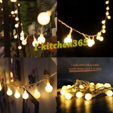10M 100 Bulb Berry Globe Ball Fairy LED Lights 8 Actions Gazebo Bedroom Window