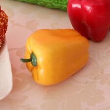 Realistic Artificial Plastic Vegetables Decorative Food Pepper Yellow
