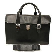 Tony Perotti Italian Leather Ladies Lockable Briefcase - Black TP-8965G