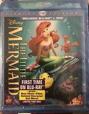 The Little Mermaid (Blu-ray/DVD, 2013, 2-Disc, Diamond Edition) NEW Disney OOP