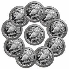 Lot of 10 2020 Niue 1 oz Silver Athenian Owl $2 Coins GEM BU SKU60205